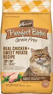 10Merrick Purrfect Bistro Grain-Free Real Chicken + Sweet Potato Recipe Adult Dry Cat Food