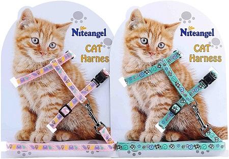 10Niteangel 2 Pack of Adjustable Cat Harness