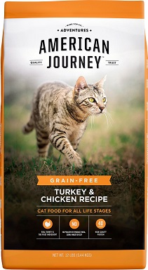 1American Journey Turkey & Chicken Recipe Grain-Free Dry Cat Food