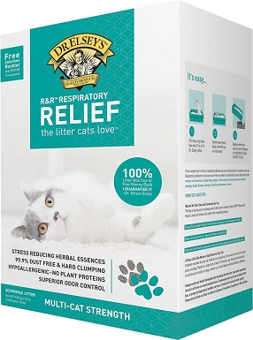 1Dr. Elsey's Precious Cat Respiratory Relief Unscented Clumping Clay Cat Litter
