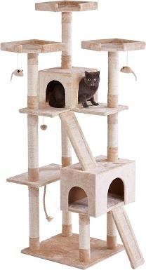 1Frisco 72-in Faux Fur Cat Tree & Condo