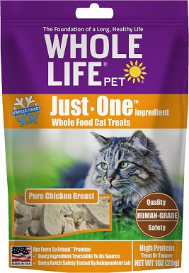 2Whole Life Just One Ingredient Pure Chicken Breast Freeze-Dried Cat Treats