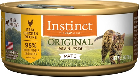 3Instinct Original Grain-Free Pate Real Chicken Recipe Wet Canned Cat Food