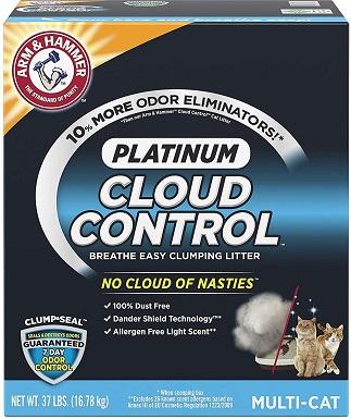 4Arm & Hammer Litter Platinum Scented Clumping Clay Cat Litter