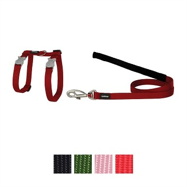 4Red Dingo Classic Nylon Cat Harness & Leash