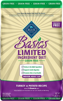 5Blue Buffalo Basics Limited Ingredient Grain-Free Formula Turkey & Potato Recipe