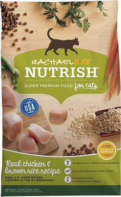 5Rachael Ray Nutrish Natural Chicken & Brown Rice Recipe Dry Cat Food