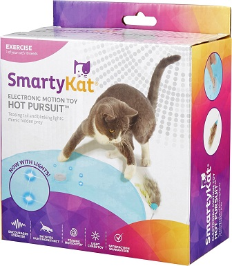 5SmartyKat Hot Pursuit Electronic Concealed Motion Cat Toy, Blue