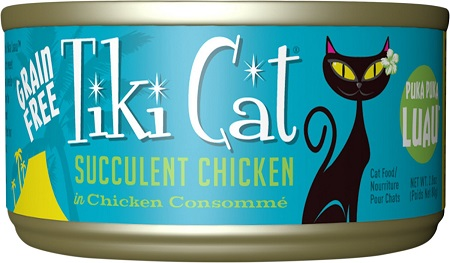 5Tiki Cat Puka Puka Luau Succulent Chicken in Chicken Consomme Grain-Free Canned Cat Food