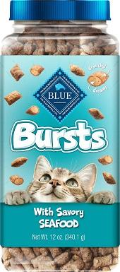 6Blue Buffalo Bursts With Savory Seafood Cat Treats