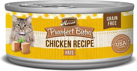 6Merrick Purrfect Bistro Grain-Free Chicken Pate Canned Cat Food