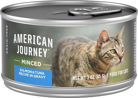 7American Journey Minced Salmon & Tuna Recipe in Gravy Grain-Free Canned Cat Food