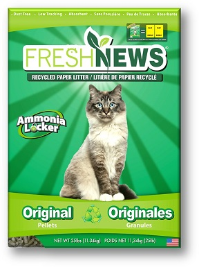 7Fresh News Unscented Non-Clumping Paper Cat Litter