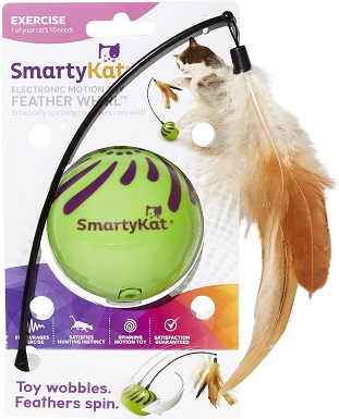 7SmartyKat Feather Whirl Electronic Motion Cat Toy