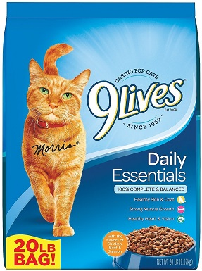 8 9 Lives Daily Essentials with Chicken, Beef & Salmon Flavor Dry Cat Food