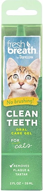 8Fresh Breath by TropiClean No Brushing Clean Teeth Dental & Oral Care Gel for Cats
