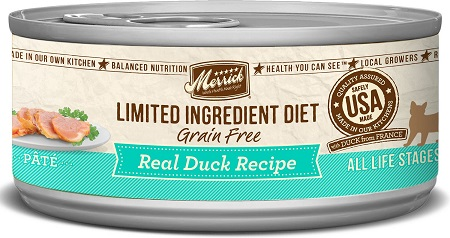 8Merrick Limited Ingredient Diet Grain-Free Real Duck Pate Recipe Canned Cat Food