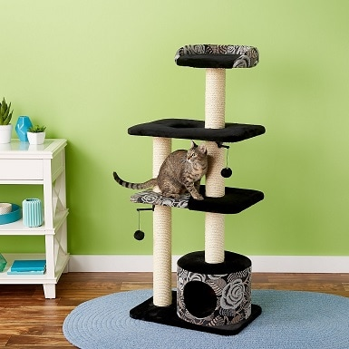 8MidWest Feline Nuvo Tower 50.5-in Faux Fur Cat Tree & Condo
