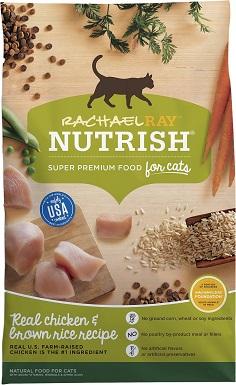 8Rachael Ray Nutrish Natural Chicken & Brown Rice Recipe Dry Cat Food