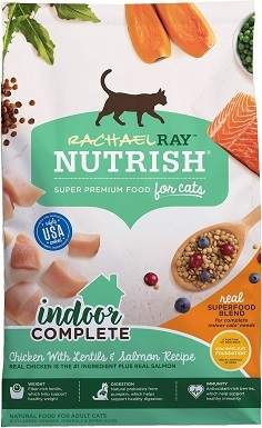 9Rachael Ray Nutrish Indoor Complete Natural Dry Cat Food
