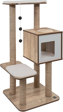 9Vesper High Base 47.8-in Modern Cat Tree & Condo