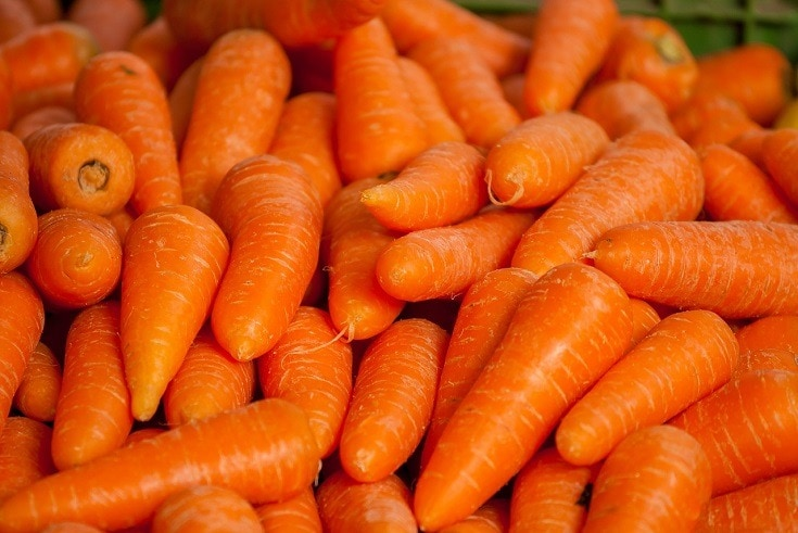 Carrots piled up