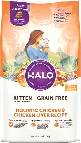 Halo Grain-Free Holistic Chicken & Chicken Liver Kitten Food