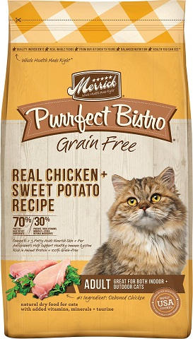 Merrick Purrfect Bistro Grain-Free Real Chicken + Sweet Potato Recipe Adult Dry Cat Food
