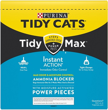 Tidy Max Instant Action Scented Clumping Clay Cat Litter