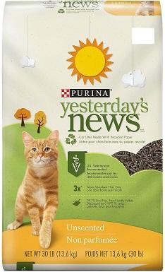 Yesterdays News Original Unscented Non-Clumping Paper Cat Litter