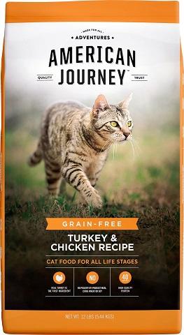 1American Journey Turkey & Chicken Recipe Grain-Free Dry Cat Food