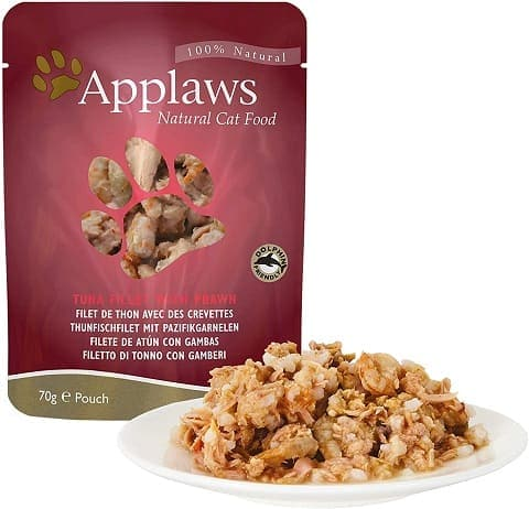 1Applaws 100% Natural Wet Cat Food, Tuna Fillet With Pacific Prawn
