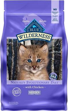 1Blue Buffalo Wilderness Kitten Chicken Recipe Grain-Free Dry Cat Food