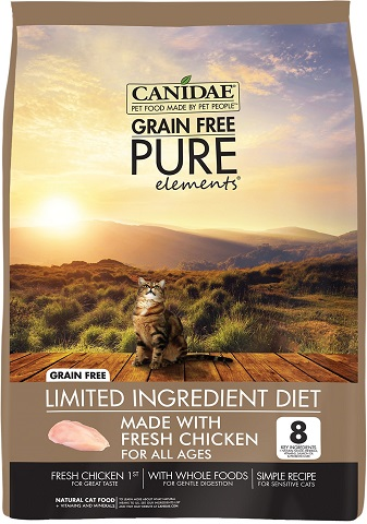1CANIDAE Grain-Free PURE Elements with Chicken Limited Ingredient Diet Dry Cat Food