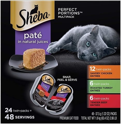 1Sheba Perfect Portions Paté Wet Cat Food Tray Variety Packs