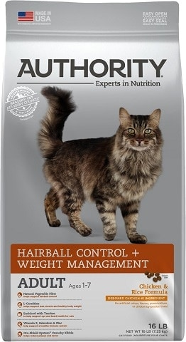 2Authority Hairball Control & Weight Management Chicken & Rice Formula Adult Dry Cat Food