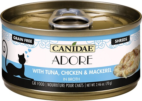 2CANIDAE Adore Tuna, Chicken & Mackerel in Broth Canned Cat Food