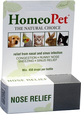 2HomeoPet Nose Relief Dog, Cat, Bird & Small Animal Supplement