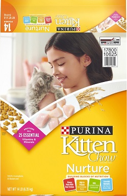 2Kitten Chow Nurture Dry Cat Food