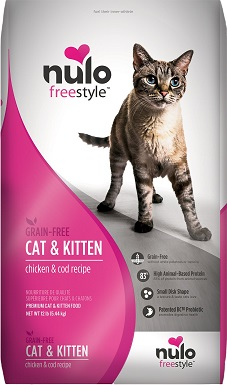 3Nulo Freestyle Chicken & Cod Recipe Grain-Free Dry Cat & Kitten Food