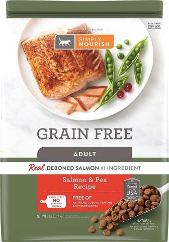 3Simply Nourish Grain-Free Salmon & Pea Recipe Adult Dry Cat Food