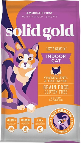 3Solid Gold - Let's Stay In - Grain-Free - Indoor Formula Dry Cat Food with Superfoods