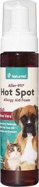4NaturVet Aller-911 Allergy Aid Hot Spot Plus Aloe Vera Dog & Cat Foam
