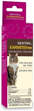 4Sentry HC Earmite Free Ear Miticide for Cats