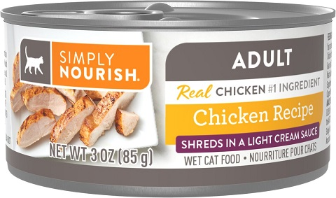4Simply Nourish Essentials Chicken Recipe Adult Shredded in Gravy Canned Cat Food