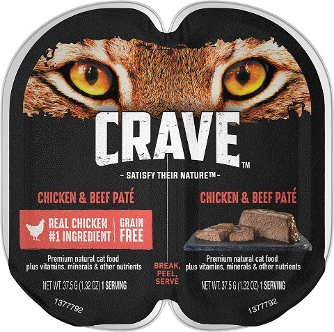 5Crave Chicken & Beef Pate Grain-Free Cat Food Trays