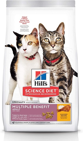 5Hill's Science Diet Dry Cat Food, Adult, Multiple Benefit, Chicken Recipe