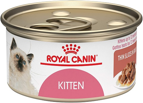 5Royal Canin Feline Health Nutrition Kitten Thin Slices In Gravy Canned Cat Food