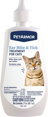 6PetArmor Ear Mite & Tick Treatment for Cats