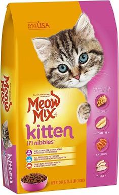 8Meow Mix Kitten Li'l Nibbles Dry Cat Food